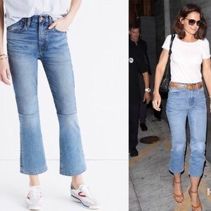 Pristine madewell retro crop bootcut jeans size 26